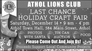 Last Chance Holiday Craft Fair
