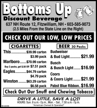 Check Out Our Low, Low Prices