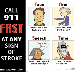 Call 911 Fast At Any Sign Of Stroke