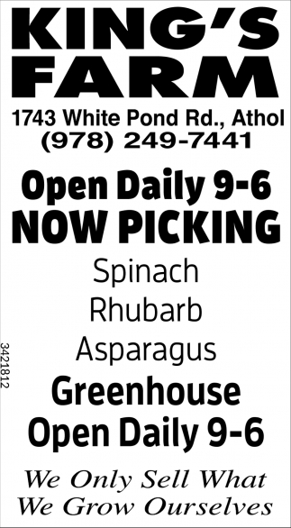 Now Open Daily 9-6