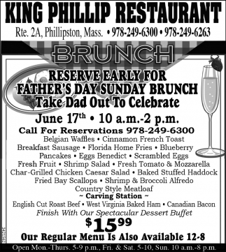 Reserve Early For Father's Day Sunday Brunch