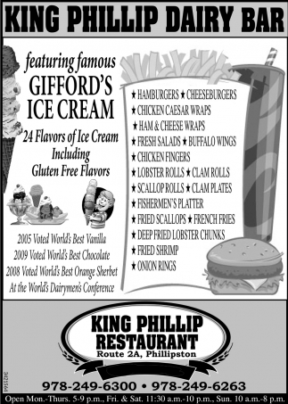 Featuring Famous Gifford's Ice Cream