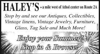 Enjoy Your Summer! Stop In And Browse!