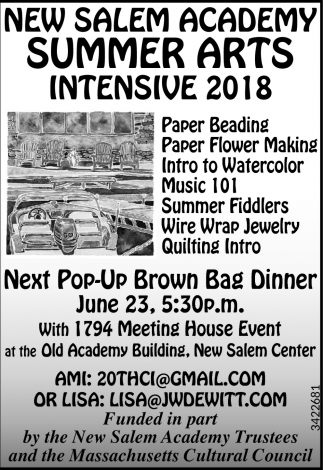 Summer Arts Intensive 2018