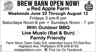 Brew Barn Open Now!