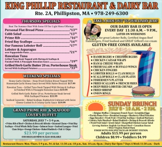 Take A Ride Out To Our Dairy Bar!