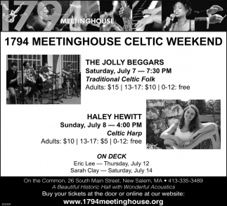 1794 Meetinghouse Presents...