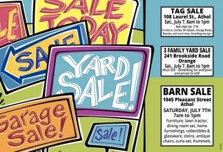 Sale Today, Yard Sales