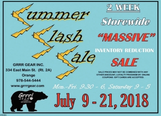 Summer Slash Sale