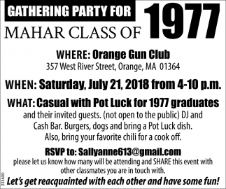 Gathering Party For Mahar Class Of 1977
