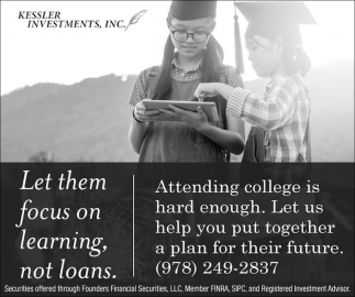Let Them Focus On Learning, Not Loans.