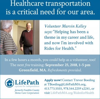 Healthcare Transportation Is A Critical Need For Our Area.