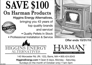 Save $100 On Harnan Products