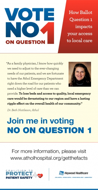 Vote No 1 On Question