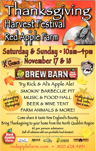 Thanksgiving Harvest Festival At Red Apple Farm