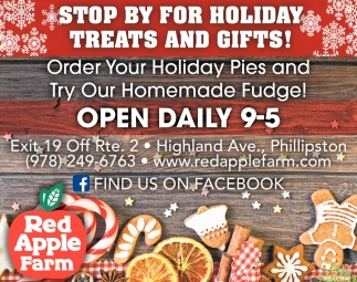 Stop By For Holiday Treats And Gifts!