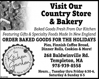 Visit Our Country Store & Bakery