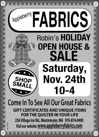 Robin's Holiday Open House & Sale