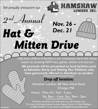2nd Annual Hat & Mitten Drive