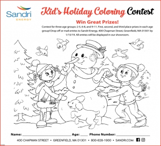 Kid's Holiday Coloring Contest