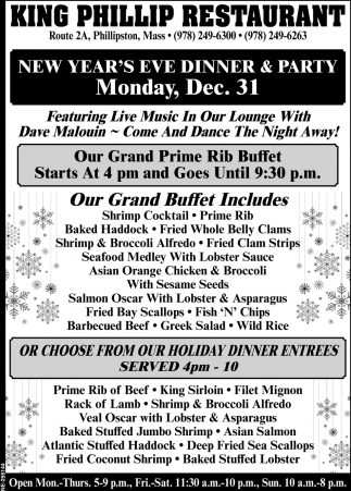 New Year's Eve Dinner & Party