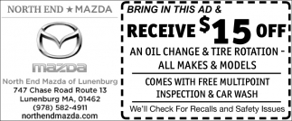 Bring In This Ad & Receive $15 Off