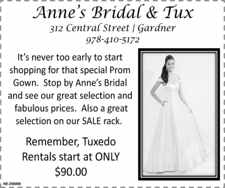 Tuxedo Rentals Start At Only $90.00