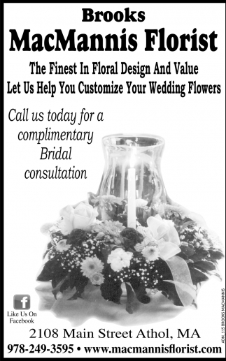Call Us Today For A Complimentary Bridal Consultation