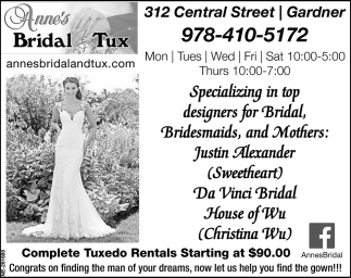 Complete Tuxedo Rentals Starting At $90.00