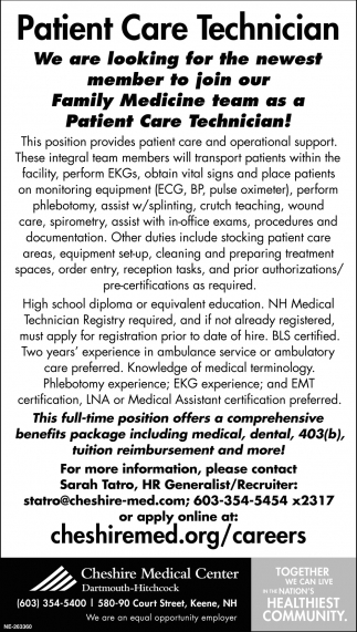 Patient Care Technician