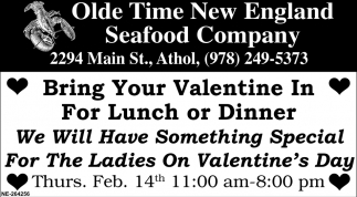 Bring Your Valentine In For Lunch Or Dinner