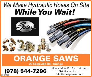 We Make Hydraulic Hoses On Site