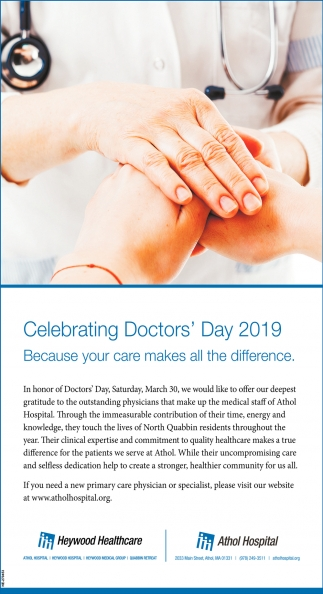 Celebrating Doctors' Day 2019