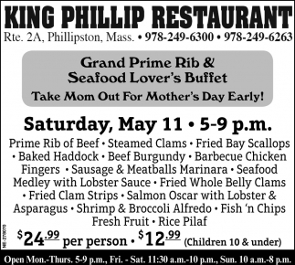 Grand Prime Rib & Seafood Lover's Buffet