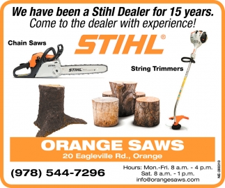 We Have Been A Stihl Dealer For 15 Years.