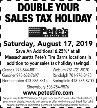 Double Your Sales Tax Holiday