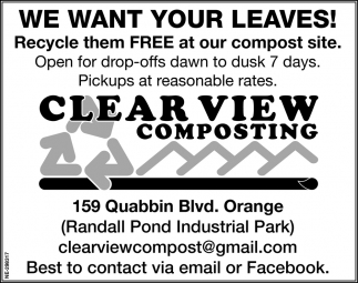 We Want Your Leaves!