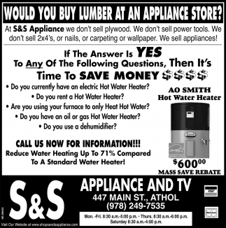 Would You Buy Lumber At An Appliance Store?
